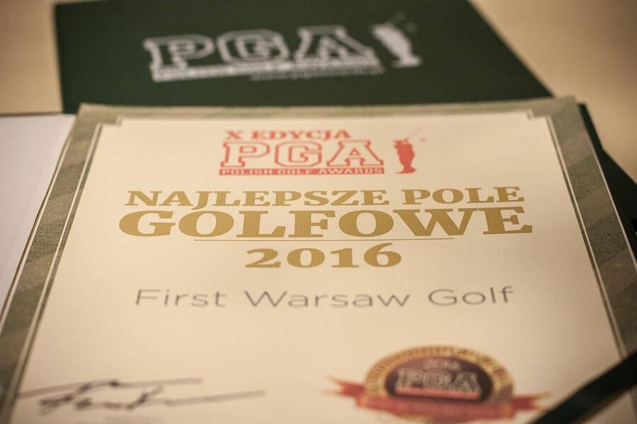 First Warsaw Golf nagrodzone Najlepszym Polem Golfowym w Polsce