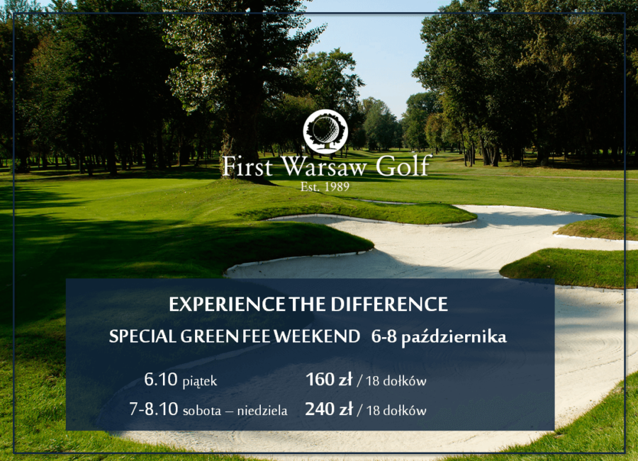 Experience the Diffence – Special Green Fee Weekend 6-8 października