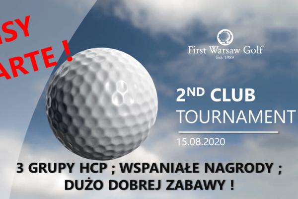 2nd Club Tournament – zapisy otwarte